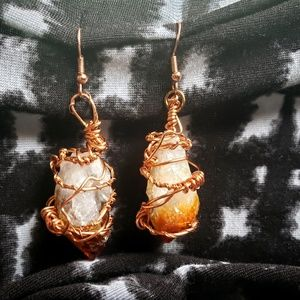 Citrine Pointes Earrings